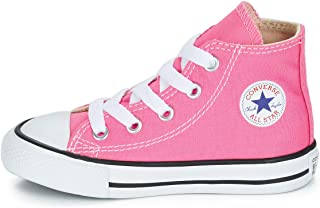 Converse Chuck Taylor All Star High Top Infant Shoes Pink 7j234
