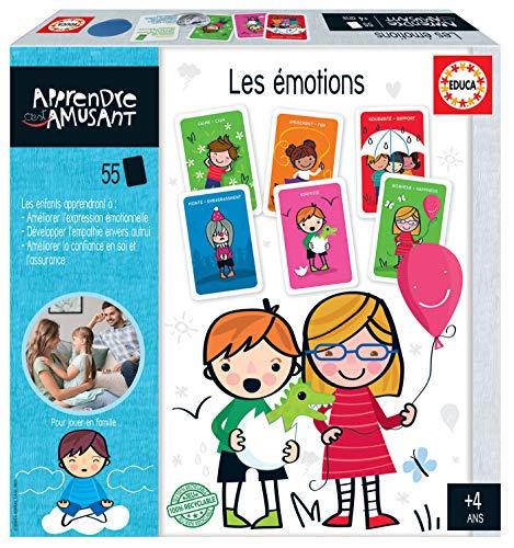 Educa - Aprender es Divertido - Les Emotions - Juego Educativo para niños - 4 años - Ref. 18829, Multicolor