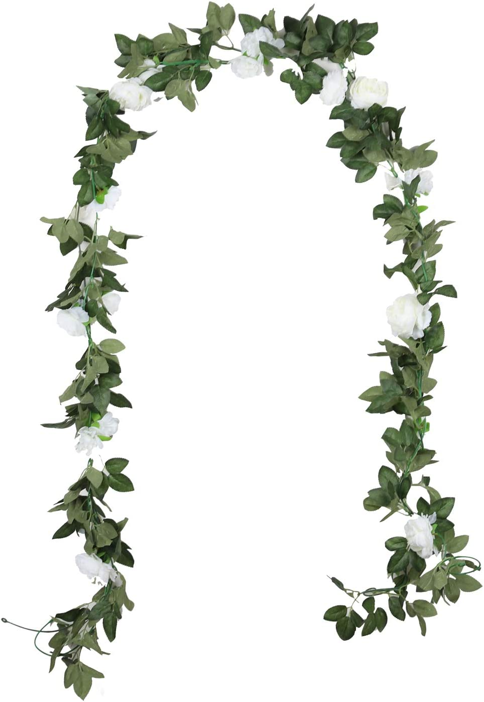Duovlo 8.2Ft Cheap super special price Regular discount Artificial Peony Flower Garland Greenery Hanging Vi