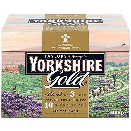 Taylors of Harrogate Yorkshire Te negro Gold 160 bolsas - 1 unidad