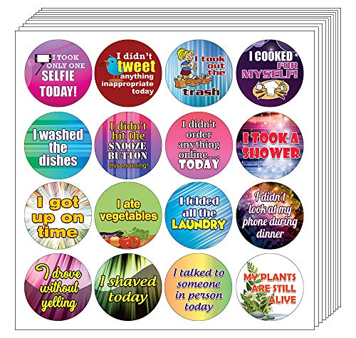 Creanoso Stickers for Adults Series 2 (10-Sheet) – Achievements Funny Sticky Notes Card Gags for Men Women Adults – Unique Wall Art Decal Décor Sticker Notes – Employee Achievements Rewards Set
