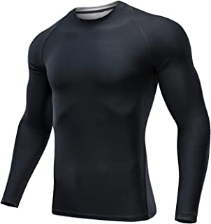 Outto Men's Long Sleeve T-Shirt Cool Dry Compression Base Layer for Sports