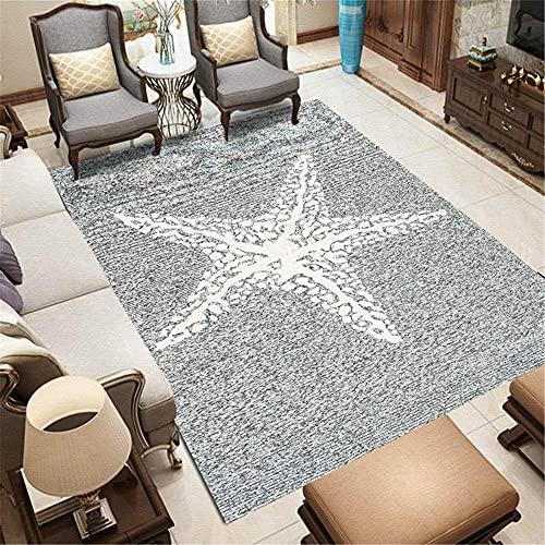 WCCCW Starfish Starfish Starfish Starfish a Cinque Punte semplici Simple Dormitory Corridor Office Lounge Moquette Dormativo-40x60 cm. Antiscivolo Lavabili Ornamenti alla Moda Pastello