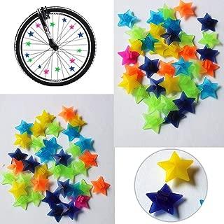 MXXGMYJ Bike Bicycle Wheel Spoke Beads Luminous Plastic Clip Spoke Bead Bicycle Beads Wire Beads Decorations
