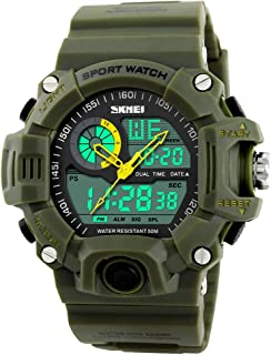 Men`s Watches Multi Function Military S-Shock Sports Watch LED Digital Waterproof Alarm Watches
