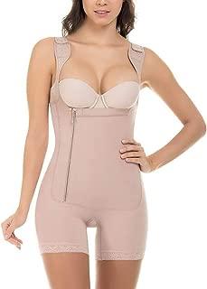 The small cat Zipper Shapewear Plus Size S-6XL Womens Wide Strap Slimming Body Shaper Black Beige Grey Bodysuit
