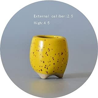 Cement Concrete Ceramic Planters Set Matt Porcelain Flowerpot Mini Geometric Succulent Plant Pots Flower Pot Bonsai Planters,023