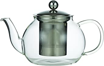 LEAF & BEAN D8009 Camellia Teapot with Filter, Glass, Stainless Steel