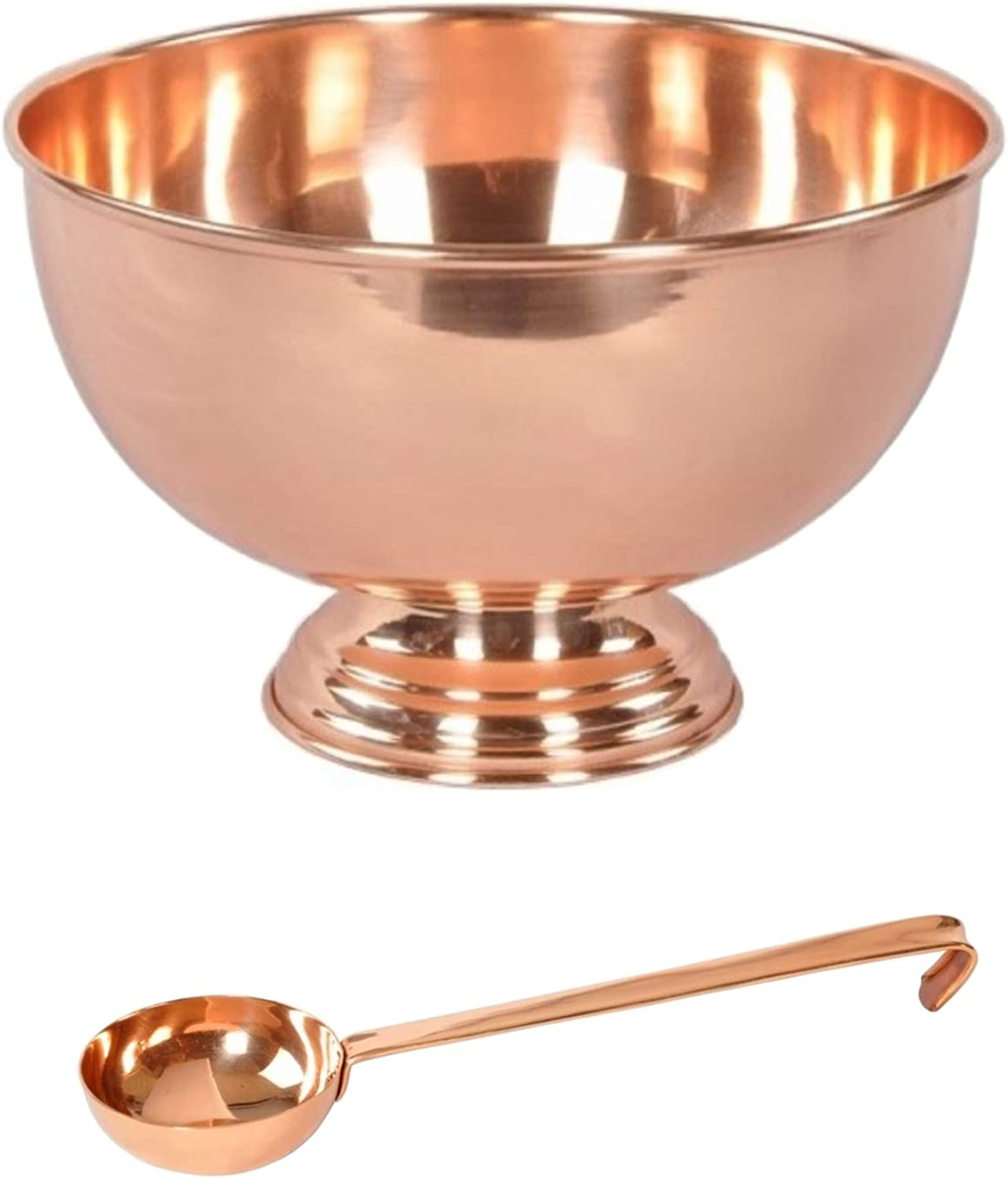 Copper Punch Bowl & Ladle Set  Perfect For Entertaining  Wedding Housewarming Party Supplies