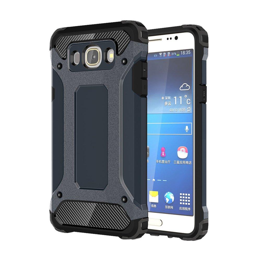 skitic funda funda carcasa anti choque Samsung Galaxy C5, 2 en 1 Híbrido Armour Case TPU + PC irrompible Back Cover rígida – carcasa de protección para SAMSUNG GALAXY ...