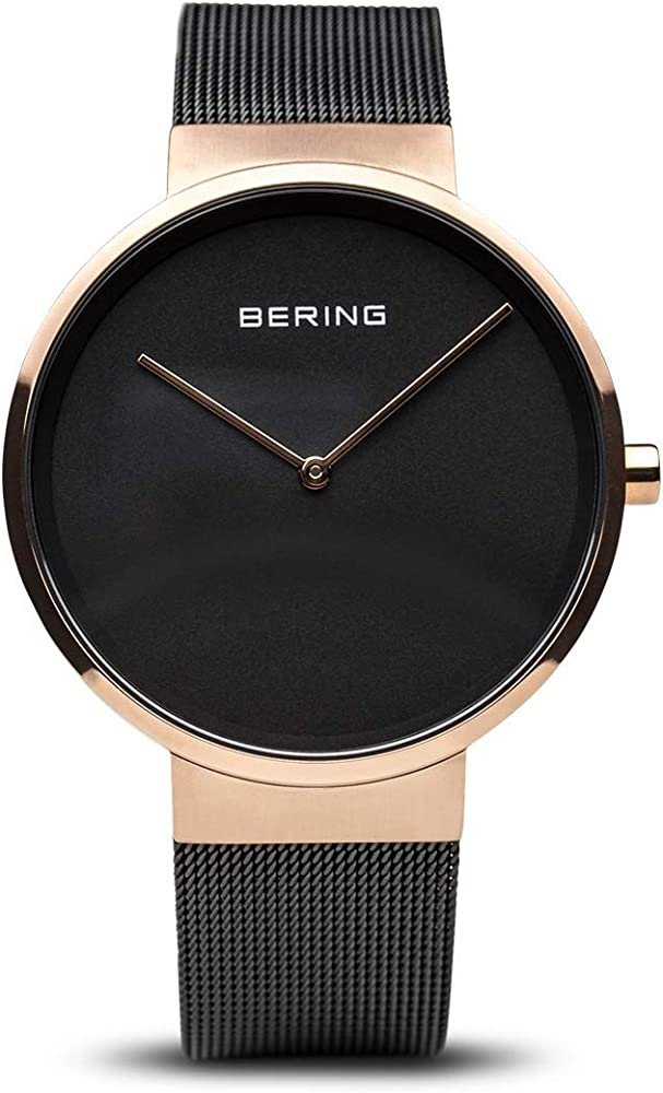 Bering orologio analogico al quarzo unisex con cinturino in acciaio inox 14539-166