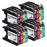 Kingway LC1280 - Cartuchos de tinta compatibles con Brother LC1240 LC1280, repuesto para Brother MFC-J5910DW DCP-J725DW DCP-J625DW MFC-J825DW MFC-J6510DW MFC-J6710DW MFC-J6910DW (16 unidades)
