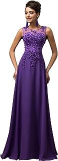 Vestido Elegante para Boda Ceremonia De Vuelo Encaje Floral Precioso Maxi