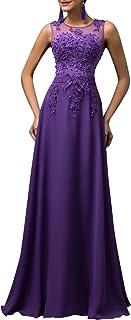 comprar comparacion Vestidos Púrpuras Sin Mangas Vestido de Fiesta para Boda Elegante Talla 40