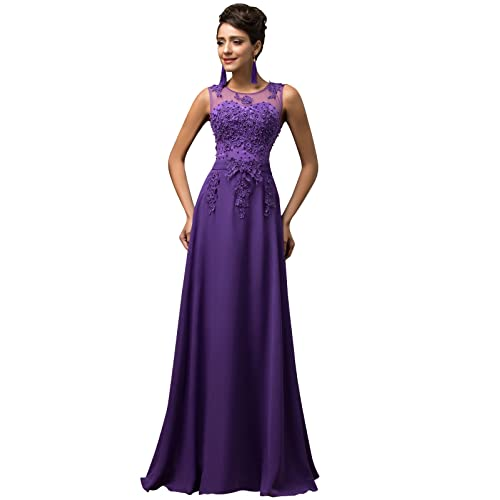 9d483f2b6 Maxi Chiffon Wedding Bridesmaid Dress A-Line Long Evening Ball Gowns Dress  UK Size 6