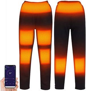 YEKKU Calefacción Pantalones, Hombres Mujeres Eléctrico USB Calentado Calefacción Pantalones Calentadores