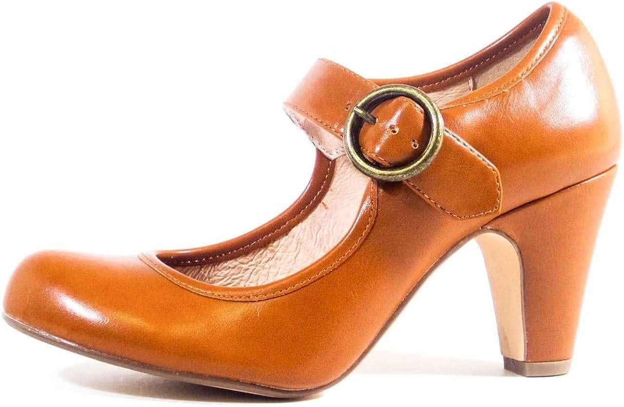 70s Shoes, Platforms, Boots, Heels | 1970s Shoes Chelsea Crew Madeline Mary Jane Heels  AT vintagedancer.com