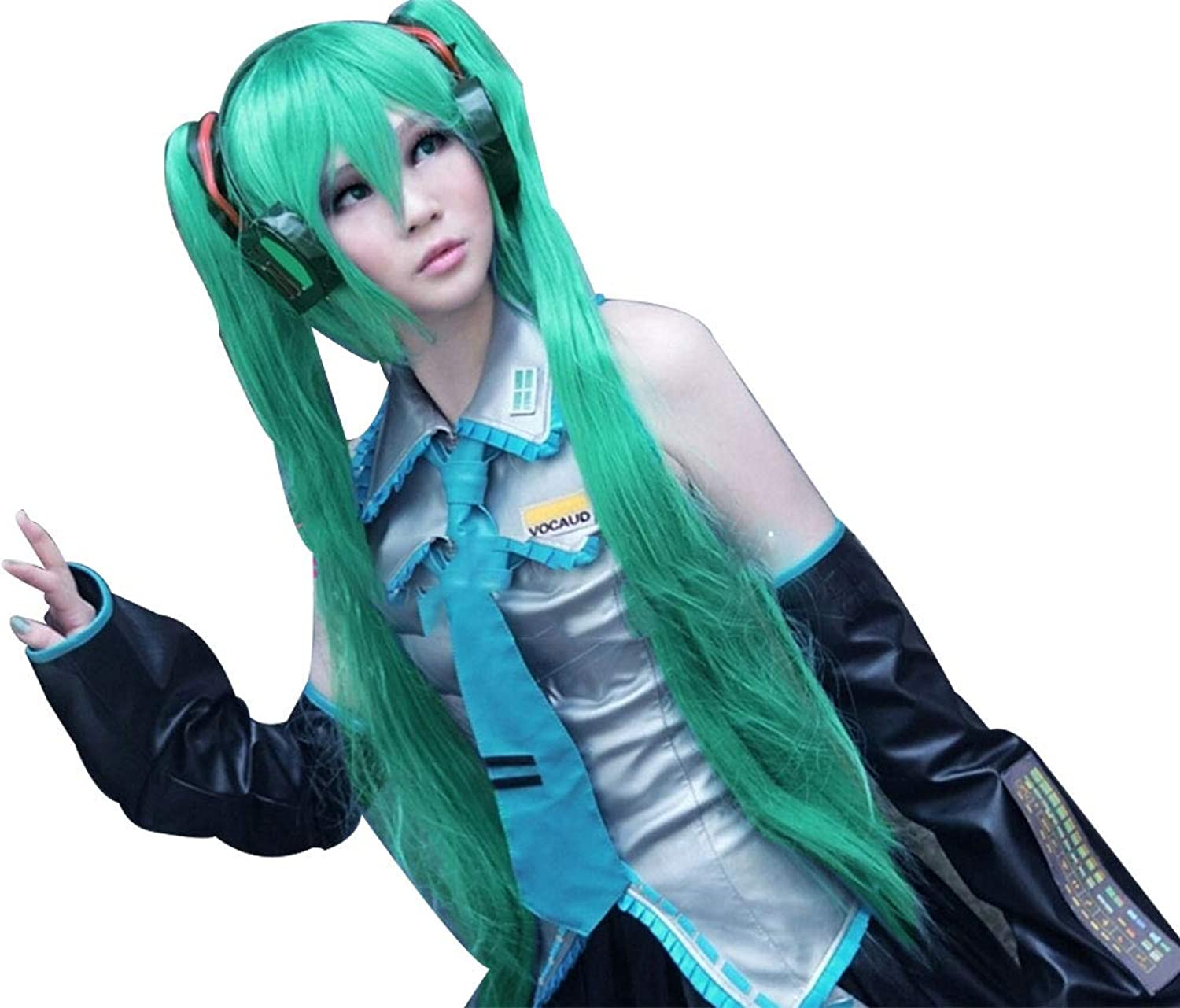 Cosplay Wig for Vocaloid Miku Green