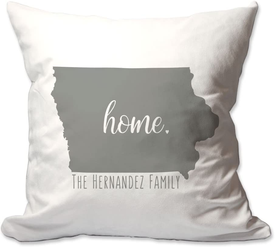 Pattern Pop Genuine Personalized State of Pillow Iowa Home Throw Fixed price for sale