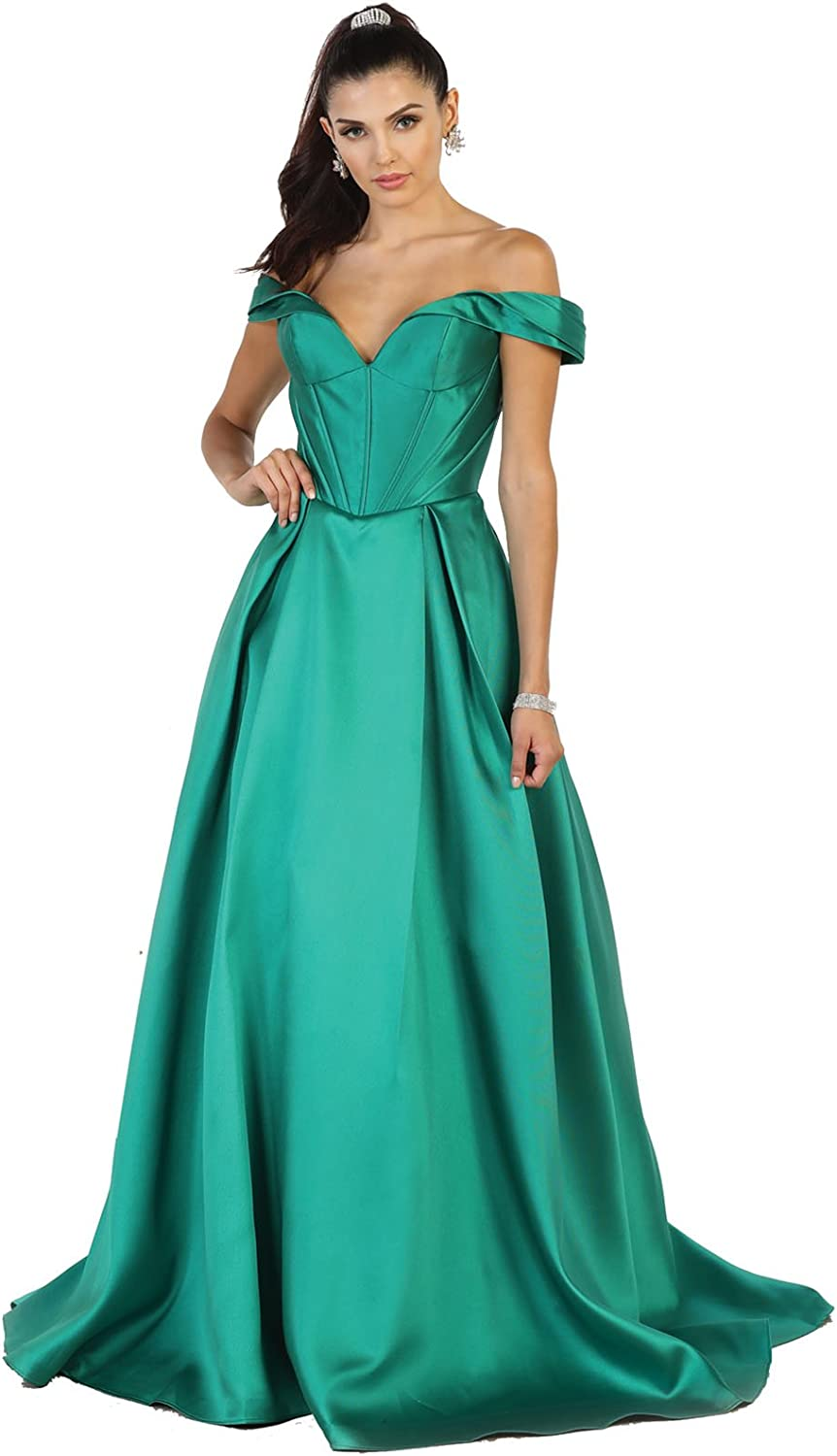 Royal Queen RQ7508 Beauty Pageant Off The Shoulder Evening Gown