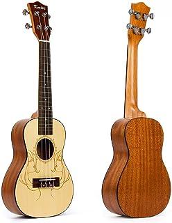 "Kmise 24"" Top Solid Spruce Concert Ukulele Hawaii Guitar professional UK-24A"