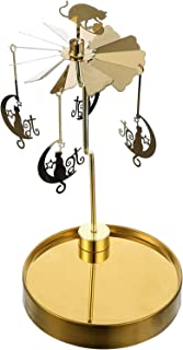 Metal Tealight Candlestick, Christmas Candle Spinner, Rotary Spinning Candle Holder for Christmas Wedding Home Decor Gifts...