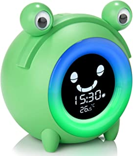 Alarm Clock for Kids, Baby Children's Sleep Training Clock with Wake Up Light, 5-Color Changeable Night Light, 5 Alarm Rin...