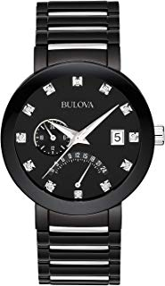 Bulova Men's 40mm Modern Diamond Accent IP Stainless Steel Watch (Certified Refurbished)