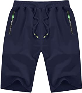 YTD Men's Shorts Casual Classic Fit Drawstring Summer...