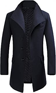 Men's Classical France Style Business Formal Warm Wool Long Jacket #00001