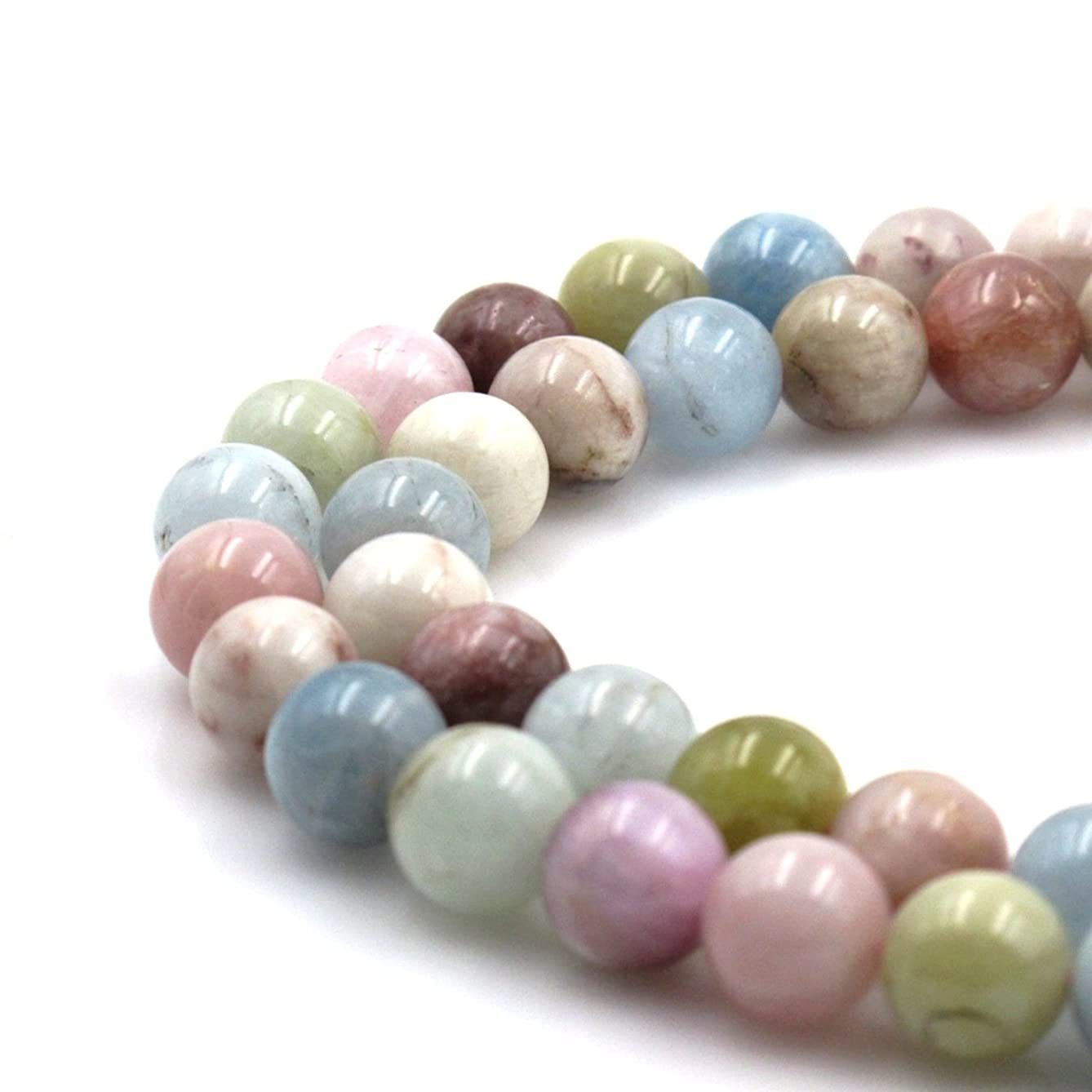 BRCbeads Natural Morganite Gemstone Round Loose Beads 10mm Approxi 15.5 inch 38pcs 1 Strand per Bag for Jewelry Making