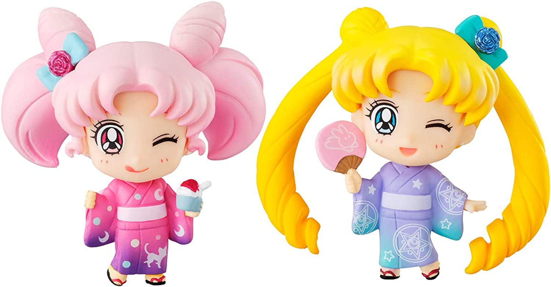 Megahouse Sailor Moon  Kyoto Marubeni Petit Chara 2 Pack Figure Set