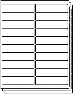 OfficeSmartLabels 4 x 1 inch Labels for Laser Inkjet (20 Labels Per Sheet, White, 350 Sheets / 7000 Labels)