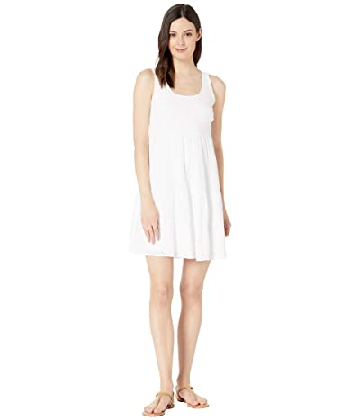 Tribal Woven Eyelet Sleeveless Dress (White) Women