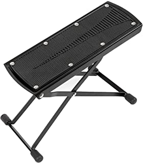 kmise Guitar Foot Stool Adjustable Height Angle Non-slip Rubber Pad Foot Rest Excellent Stability