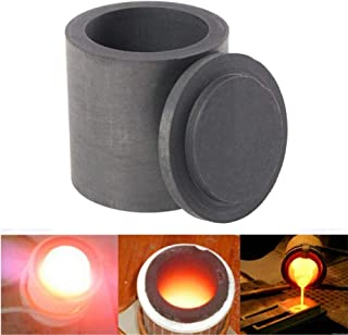 4040mm High Purity Graphite Melting Crucible Casting With Lid Cover, Jewelry Tools Graphite Casting Melting Ingot Mold for Gold Silver Metal