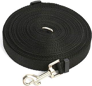 【nuage mauve】犬 用 ロング トレーニング リード ハーネス ロープ (ブラック 30m)