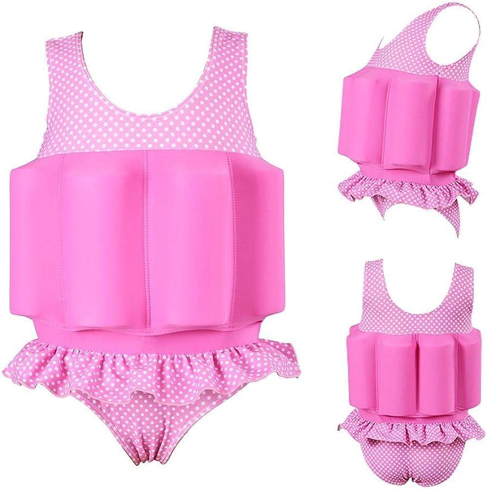 IDOPIP Kids Boys Girls Floatation Swimsuit with Adjustable Buoyancy Baby Float Suit Swim Vest One Piece Swimwear Bathing Suit