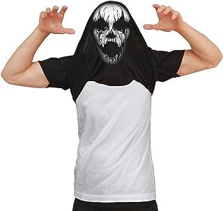 DE LOS Hombres Would You Like To See My Creepy Mask Disfraz Haunted Víspera de Todos los Santos Camiseta Flip