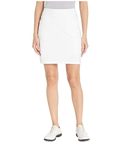 adidas Golf Ultimate Knit 18 Skort (White) Women
