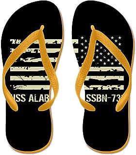USS Alabama - Flip Flops, Funny Thong Sandals, Beach Sandals