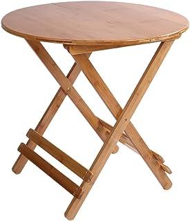 GAOJIAN Table Pliante en Bambou Petite Table Ronde Portable Table à Manger familiale Tables pli Diamètre 60cm Hauteur 50cm0