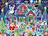 """Jigsaw puzzle includes 550 pieces & measures 24""""x18"""" when completed. Fully interlocking and randomly shaped pieces. Produced on thick, premium quality puzzle board. Precision cutting with minimal dust. Made with recycled materials. A fun Christmas pu..."""