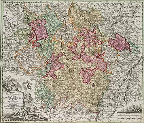 H. W. Fichter Kunsthandel: M. SEUTTER (*1678 Augsburg), Mappa Geographica,...
