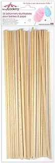 Reusable wooden sticks for candy floss