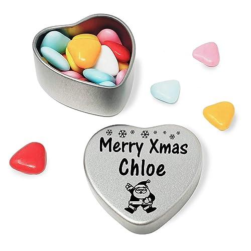Merry Xmas Emilia Mini Heart Tin Gift Present Happy Christmas Stocking Filler