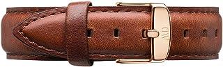 Daniel Wellington Classic St Mawes Cinturino Unisex Adulto, 18mm, in Pelle, Marrone/Oro Rosato