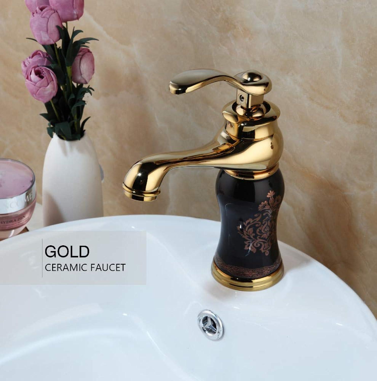 Gold Poliert Countertop Bad Wasserhahn Waschbecken Wasserhahn Swivel Single Handle Warm-Und Kaltwasser Mischbatterie