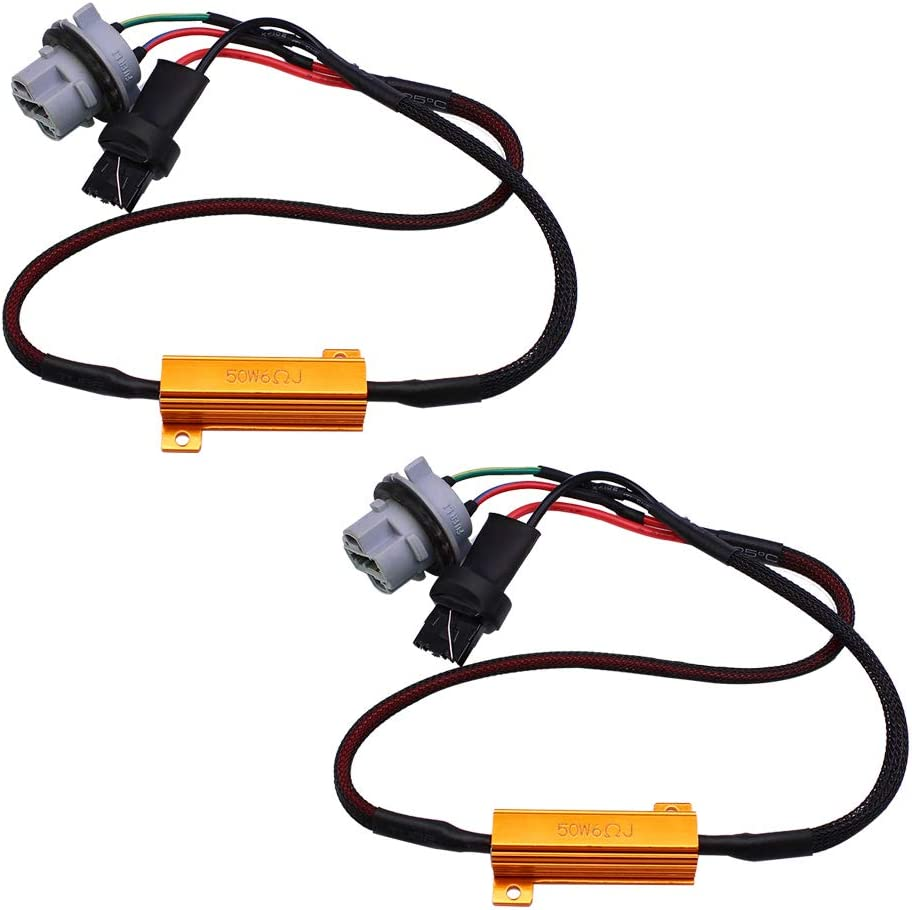 Max 45% OFF HUIQIAODS 7440 T20 50W 6Ohm LED Fixed He Ranking TOP20 Load Light Resistor