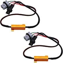 HUIQIAODS 7440 T20 W21W 50W 6Ohm LED Light Load Resistor Fixed LED Headlight Bulb Fog Light Fast Super Flash Turn Signal Flashing Light Error Code Canbus Resistor Decoder 2PCS
